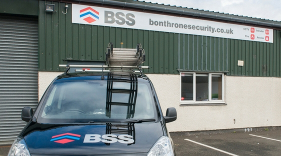 Branded car outside Bonthrone Security Services office