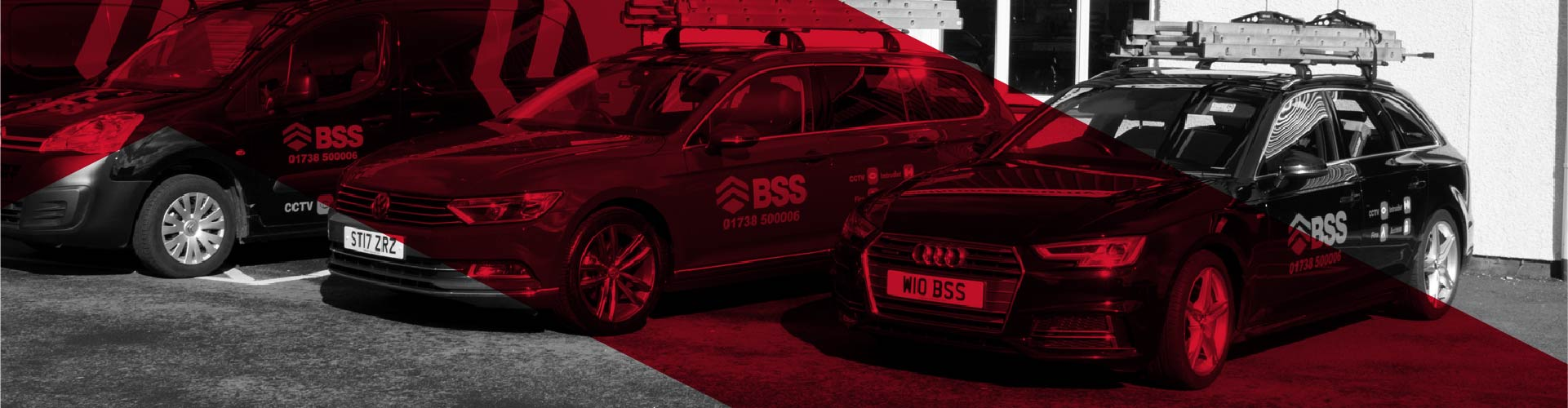 Bonthrone Security Services news banner showing an Audi branded company car